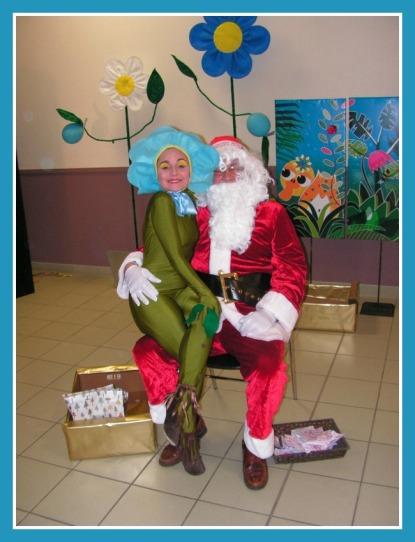 avec le Père Noël, à Saint Martin le Vieux
